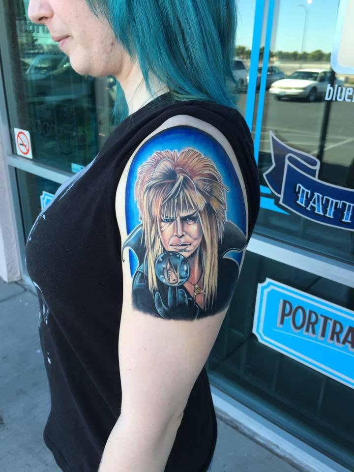 David Bowie Tattoo by Krystof