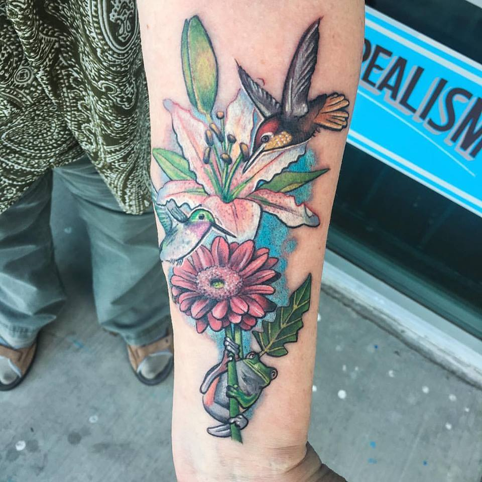 Hummingbirds/Floral by Krysto