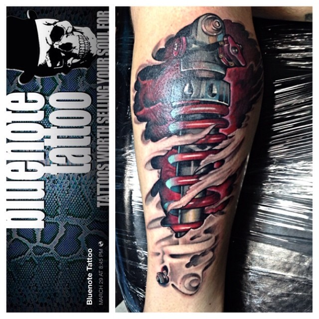 Mechanical Shock Skin Rip Tattoo