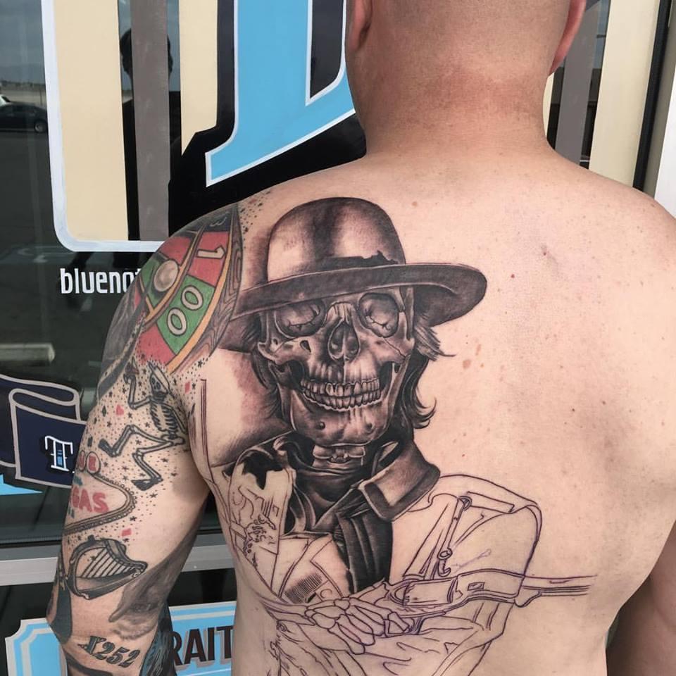 Cowboy Skull Tattoo by Krystof