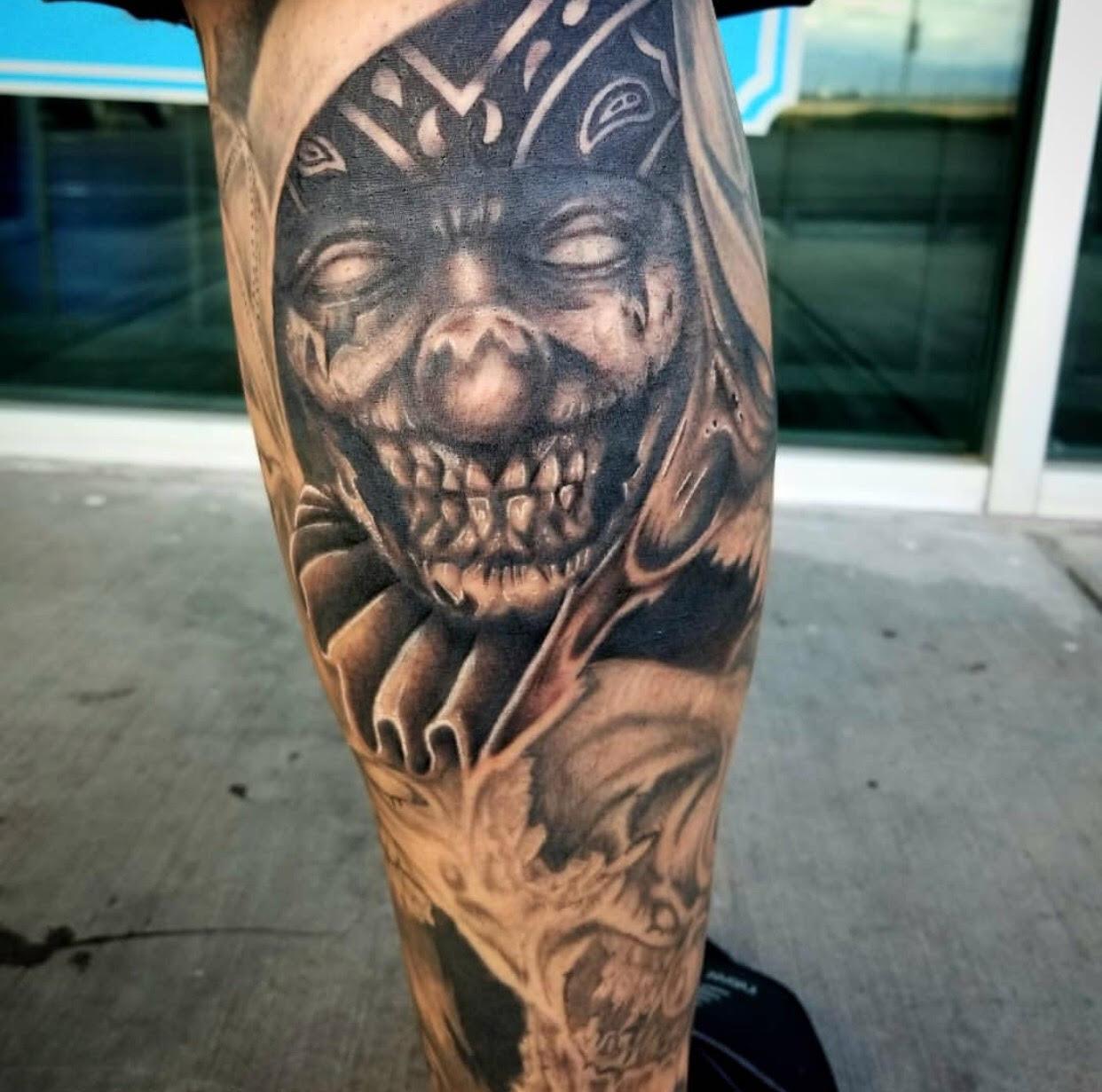 Creepy Clown tattoo by Eric