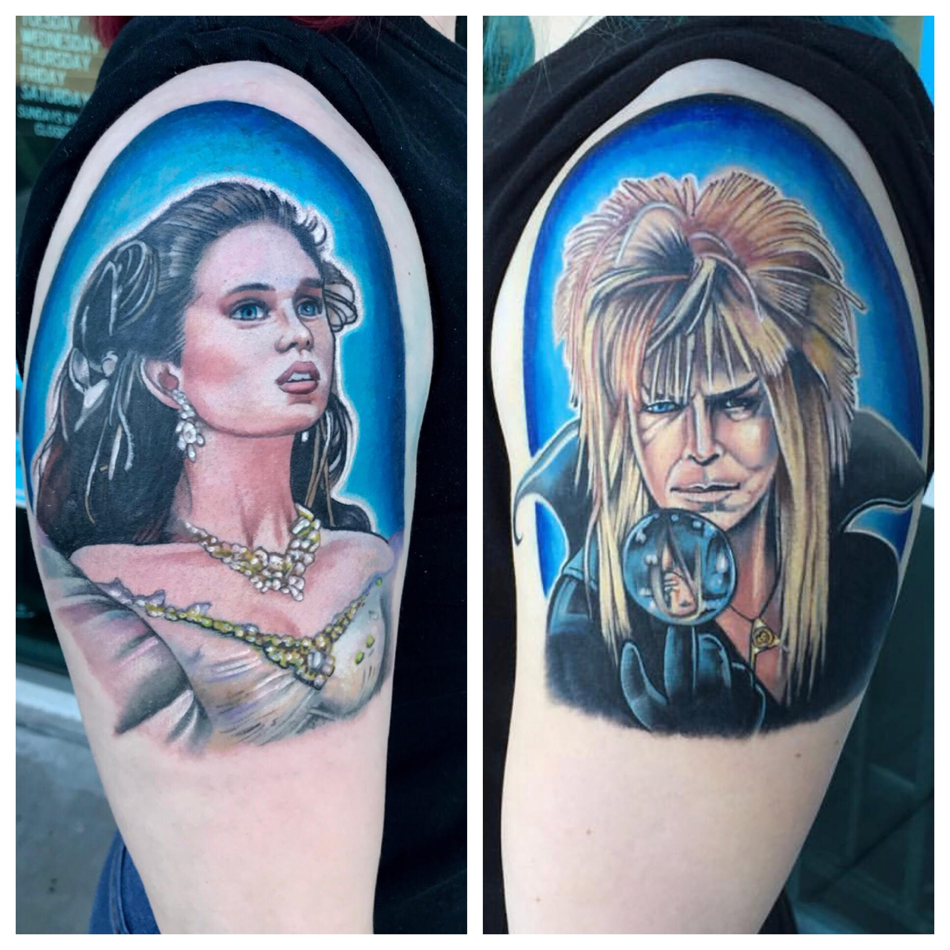 Labyrinth tattoos by Krystof