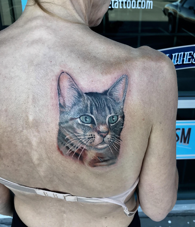 Cat Tattoo Portrait by Krystof