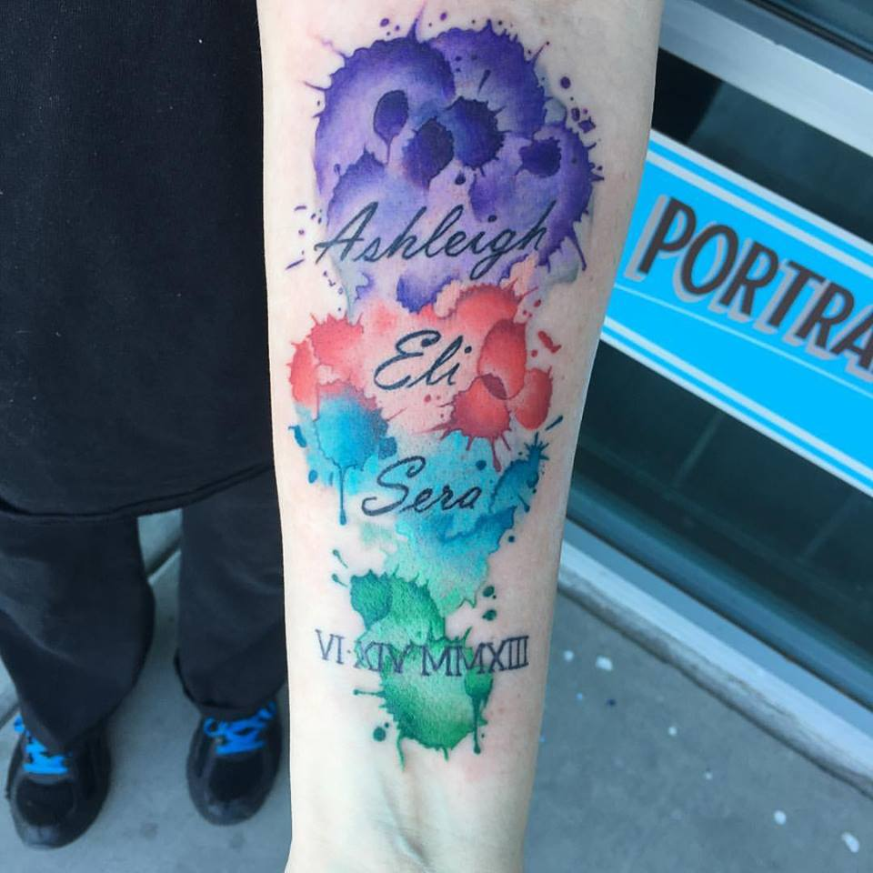 Watercolor Tattoo by Krystof