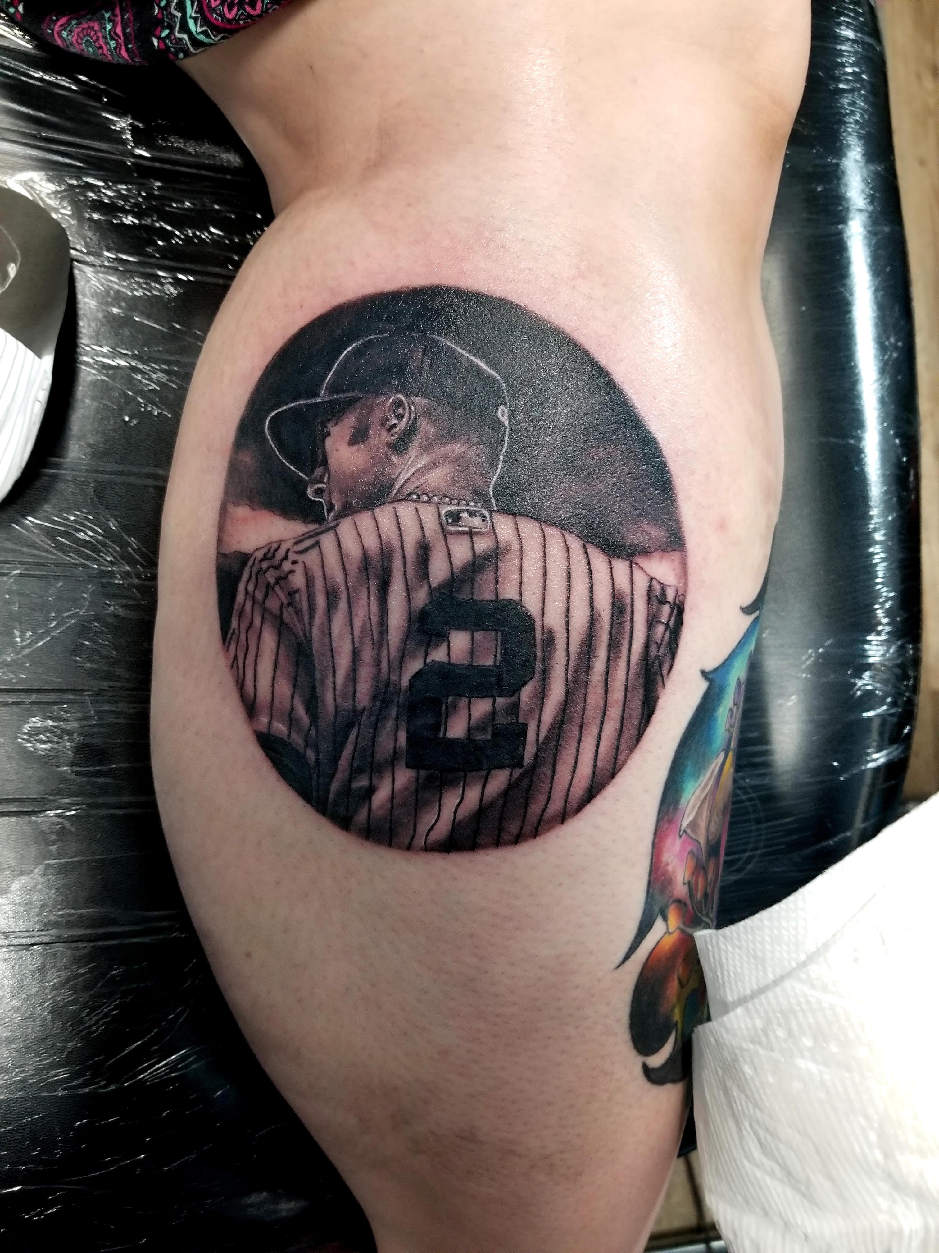 Derek Jeter Tattoo by Eric Chandler