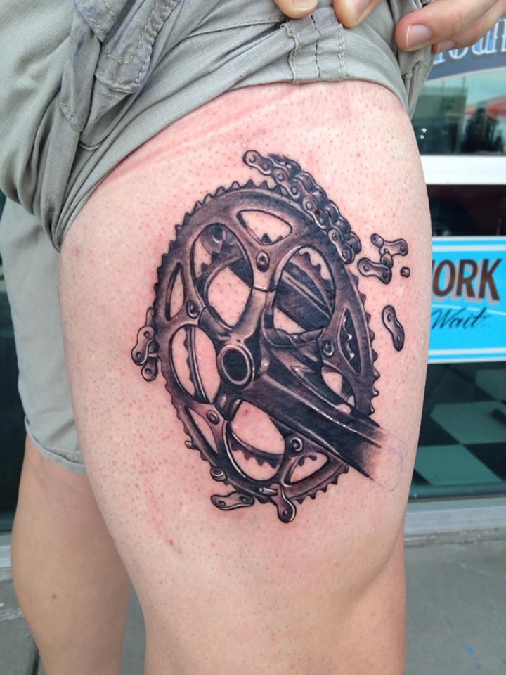 Bike Sprocket Tattoo