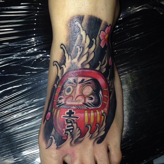 Daruma on foot Tattoo