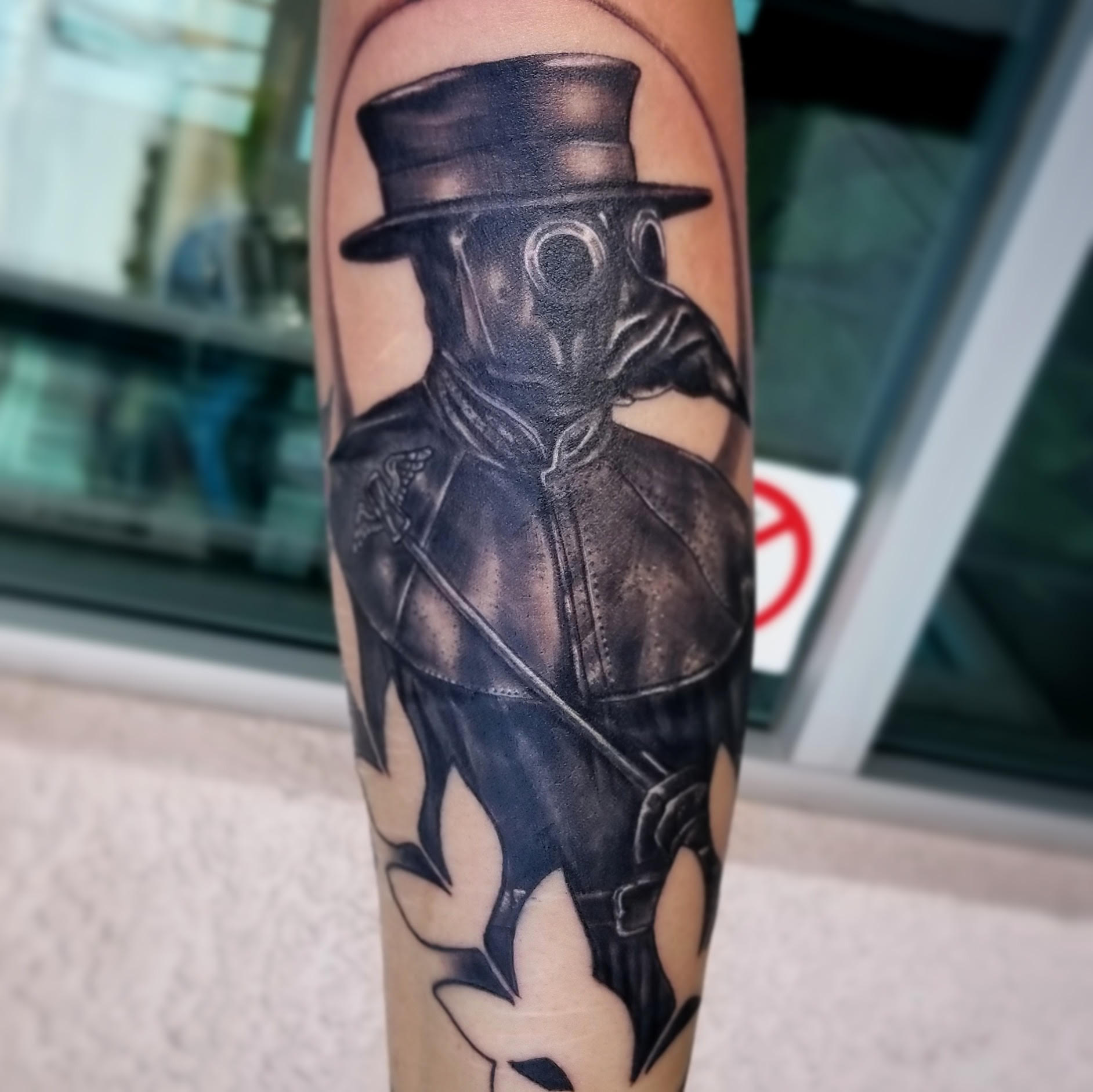Plague Doctor Tattoo by Eric