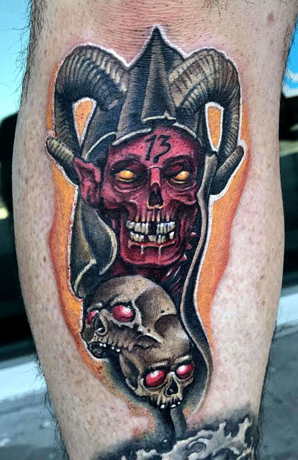 Demonic Tattoo by Krystof