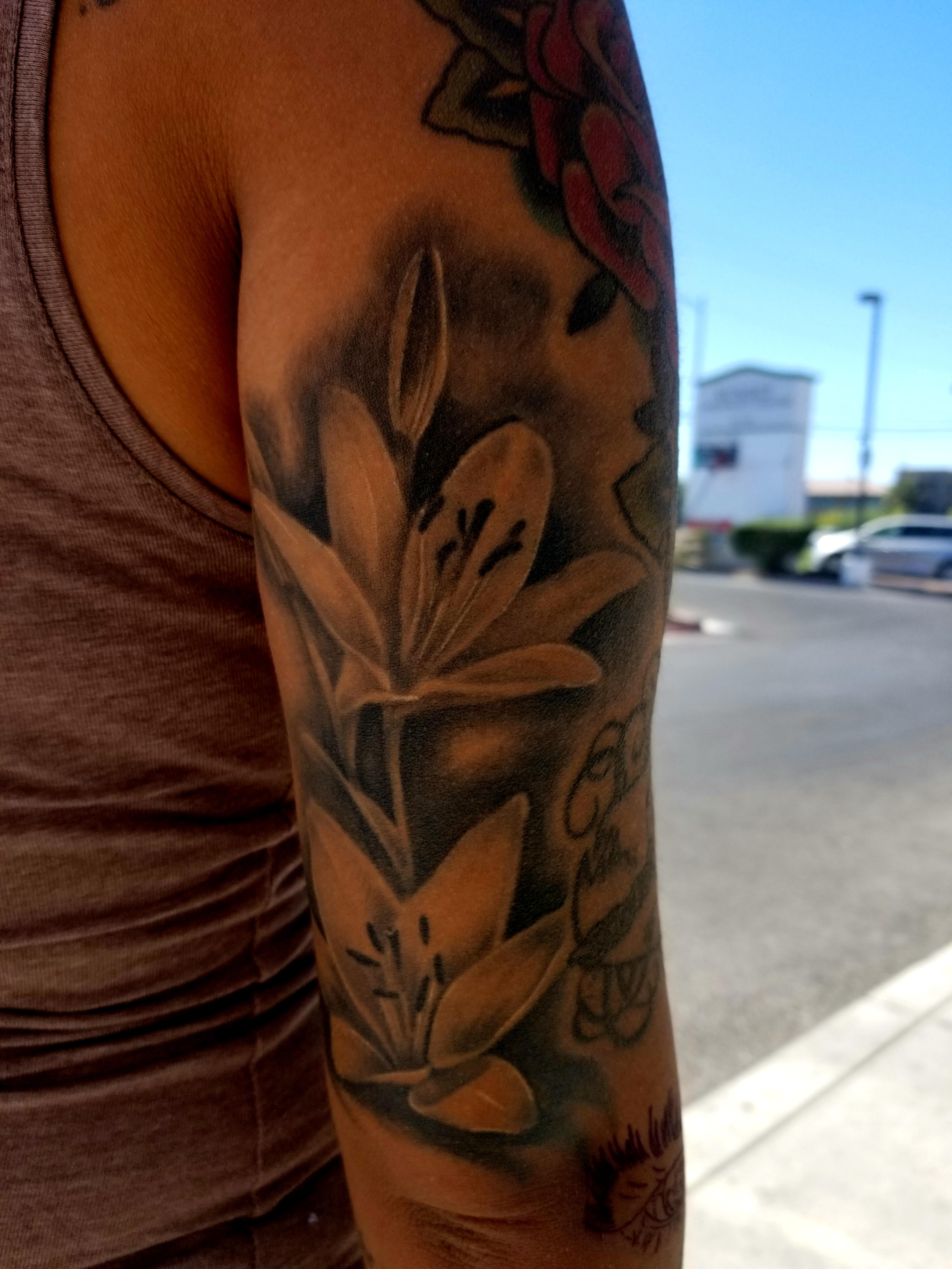 Floral Tattoo by Eric