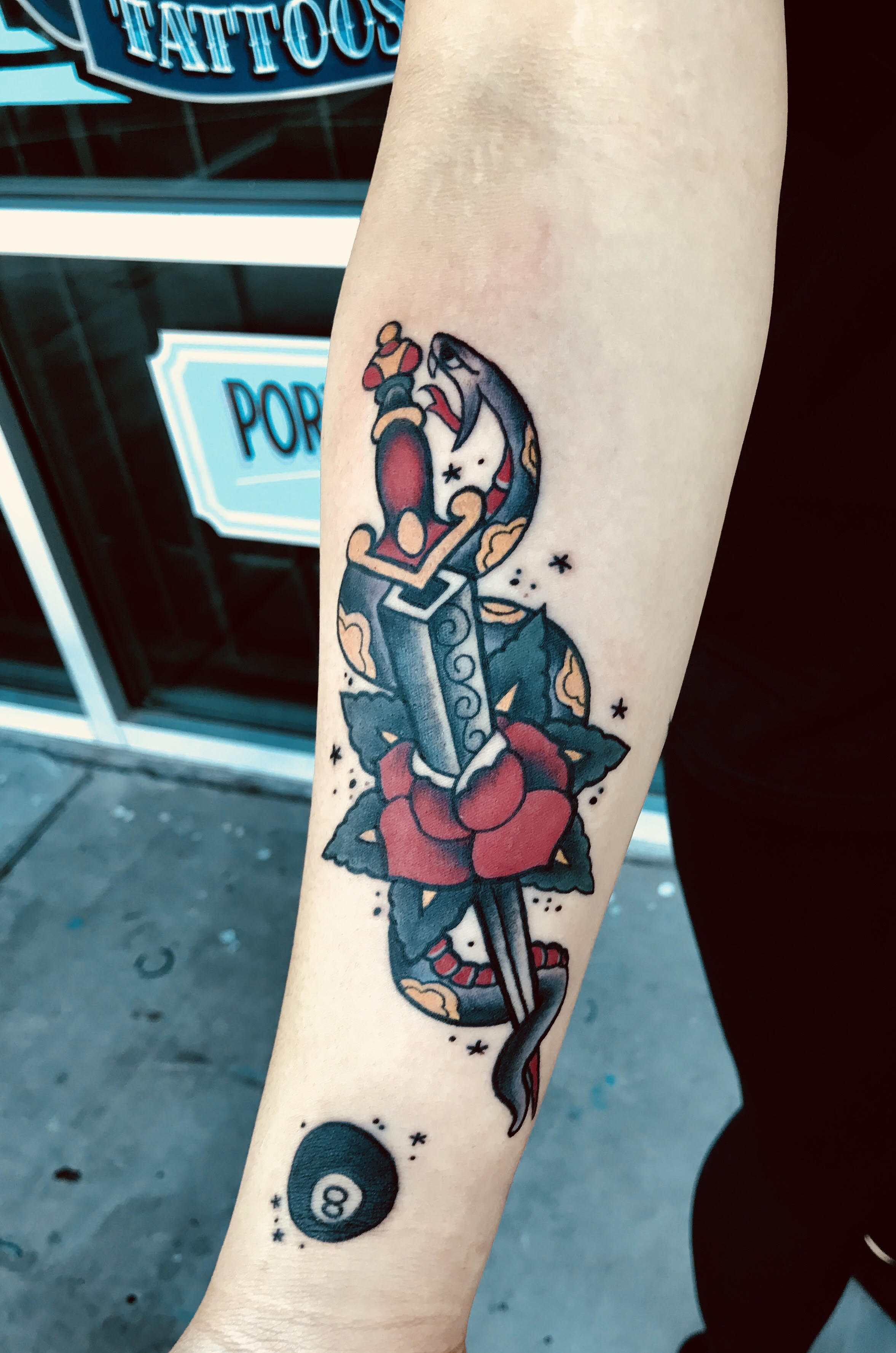 Traditional Tattoo by Krystof