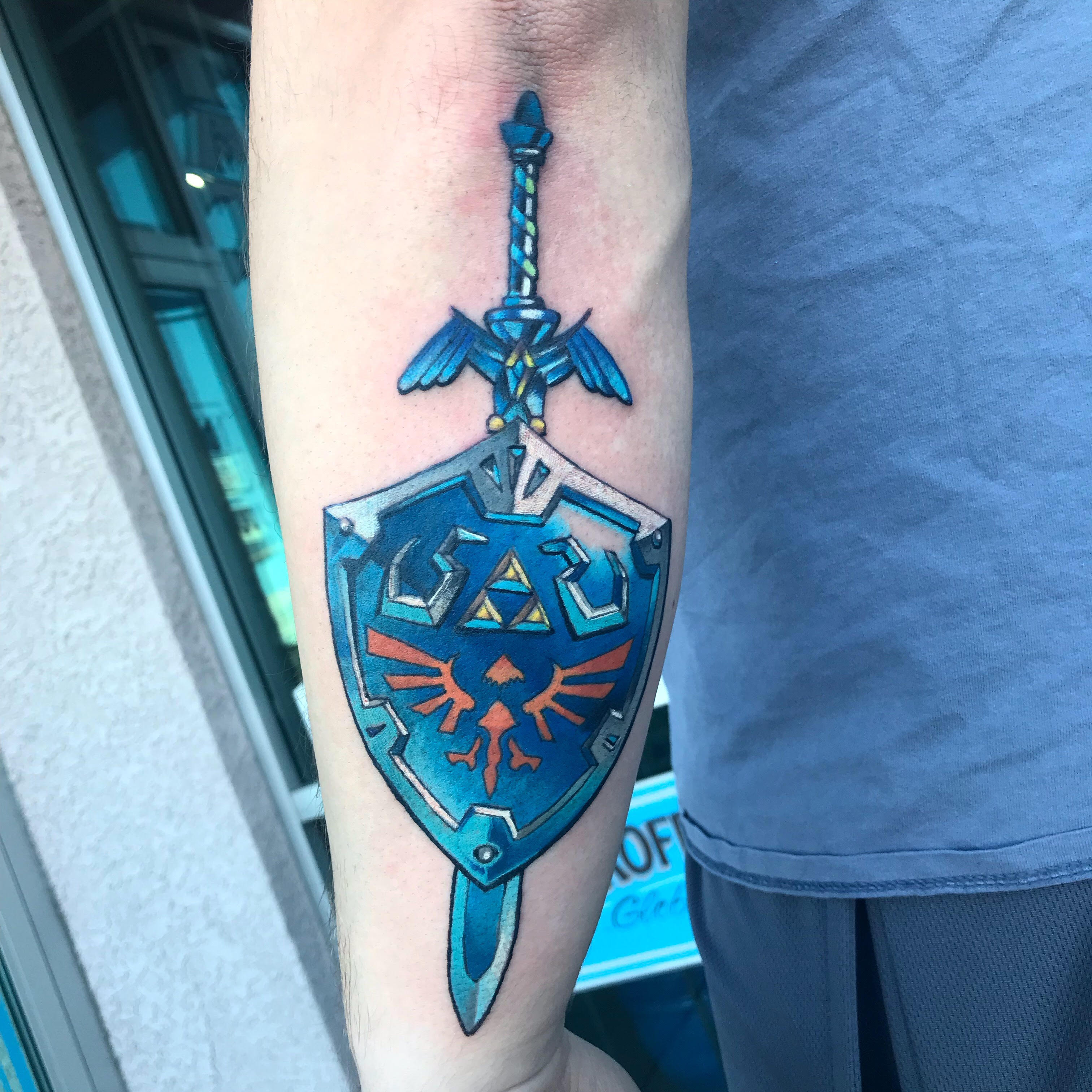 Zelda Sword Tattoo by Krystof