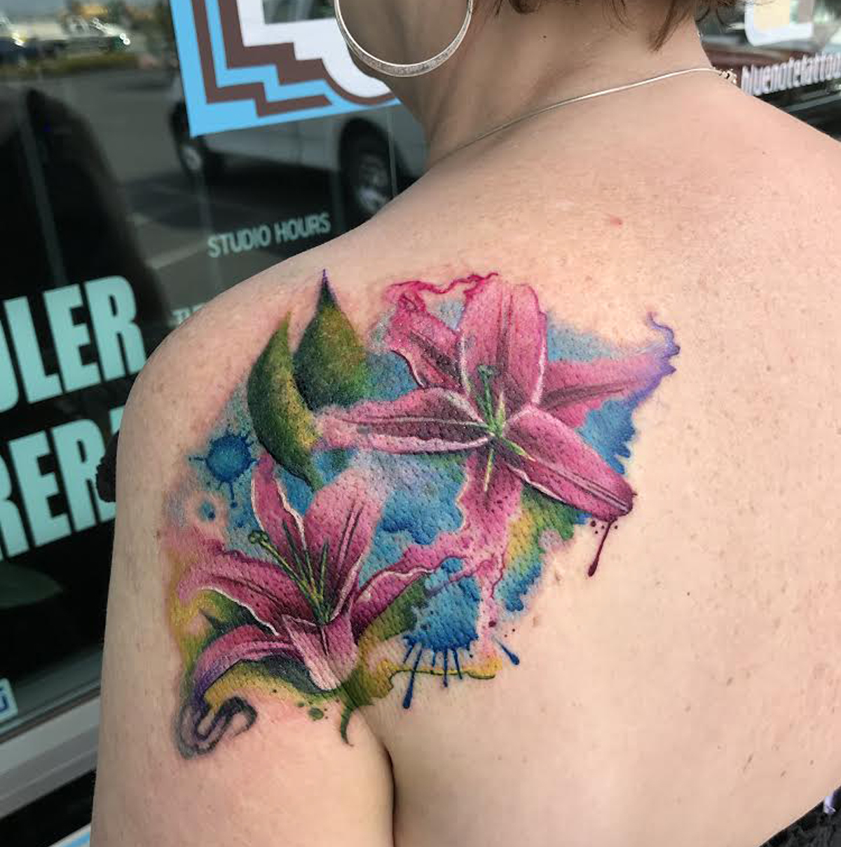 Watercolor Style Tattoo by Krystof