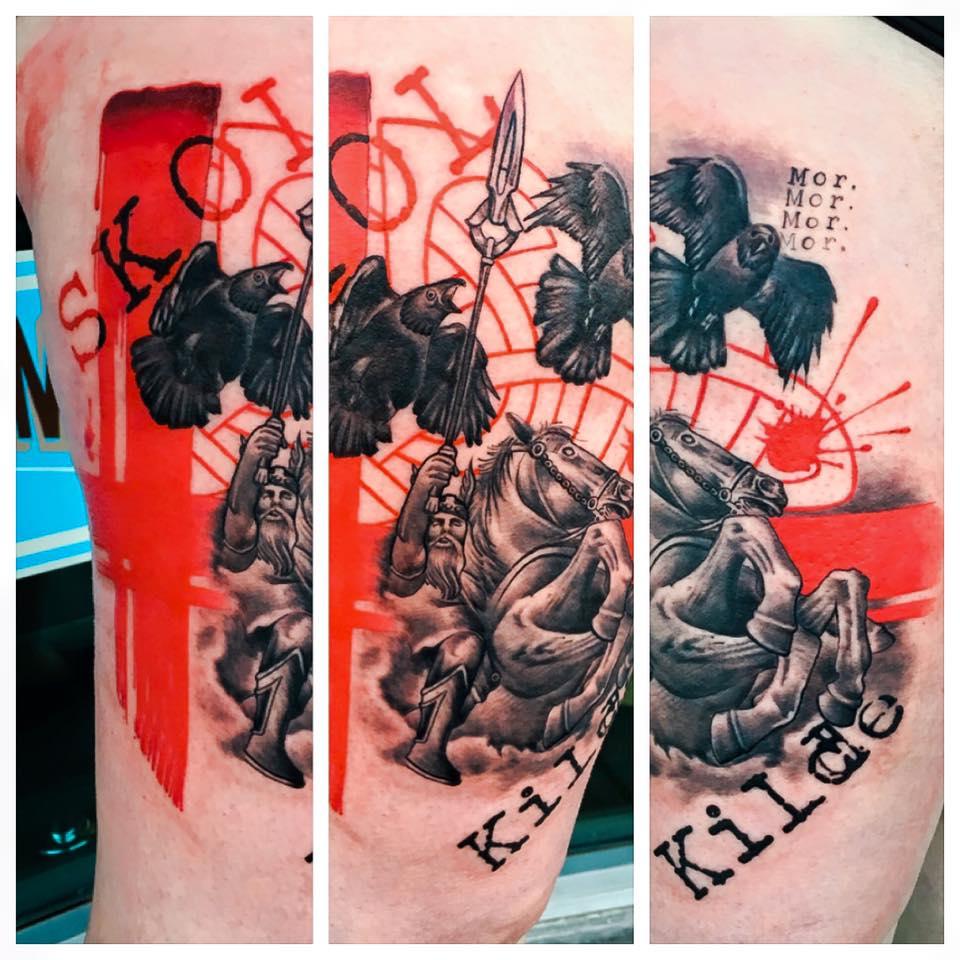 Trash Polka Tattoo by Krystof