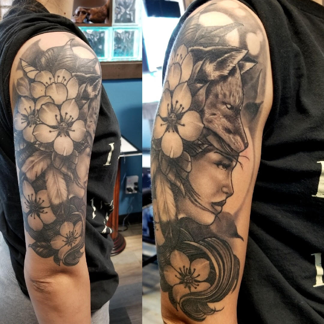 Floral Goddess Tattoo by Eric Chandl