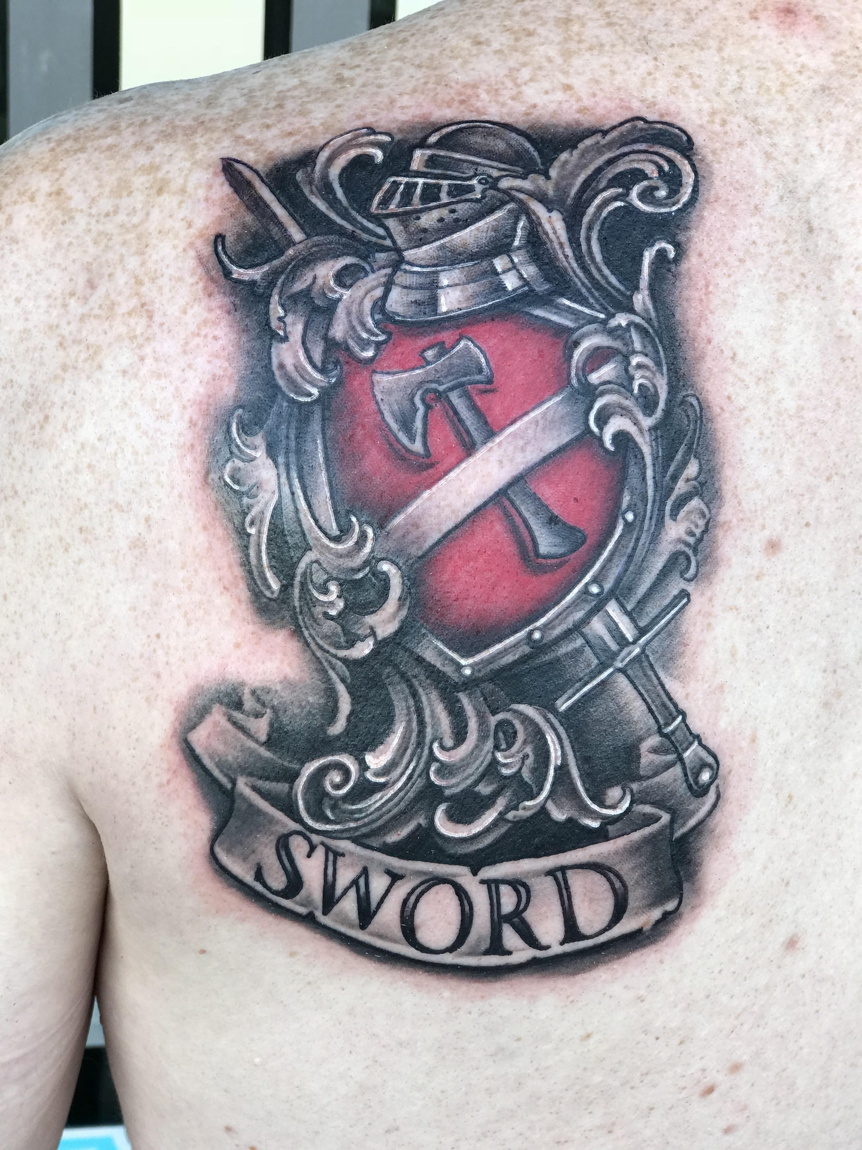 Family Crest Tattoo by Krystof