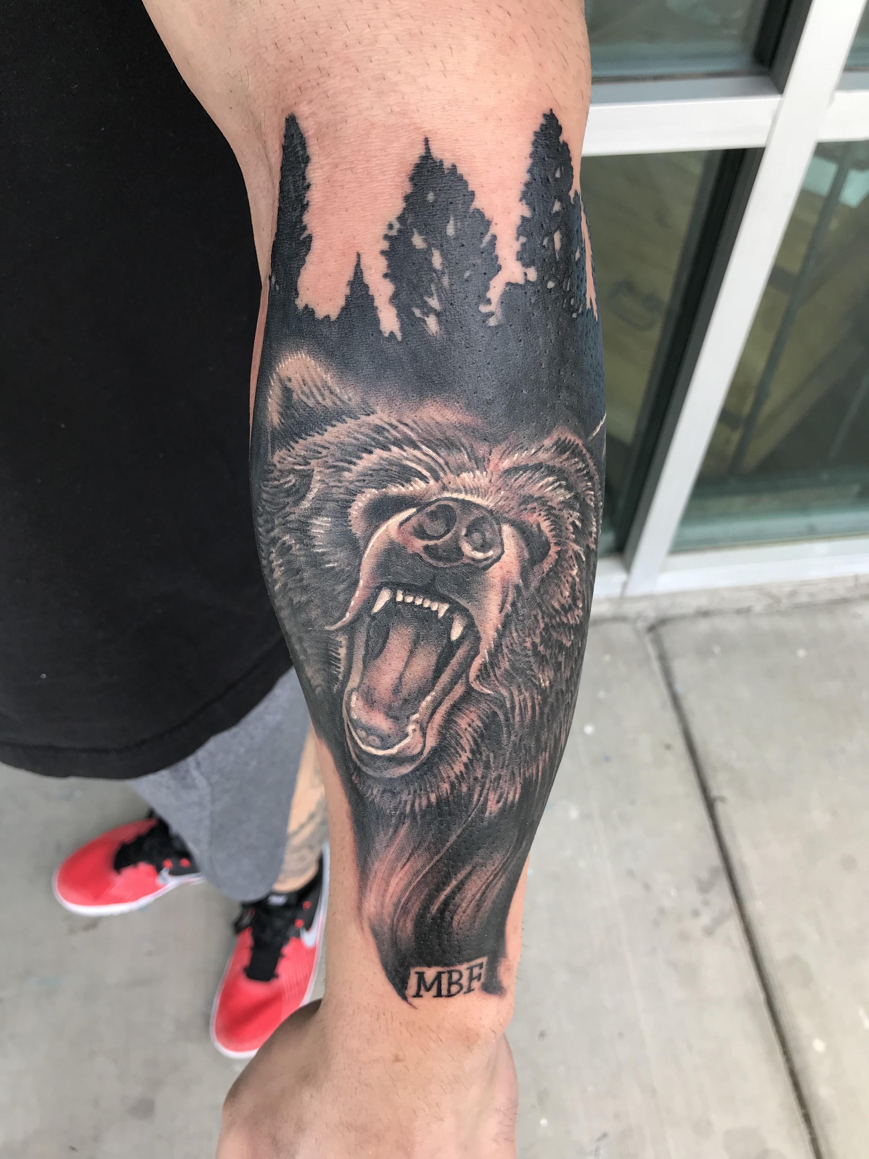 Bear Tattoo by Krystof