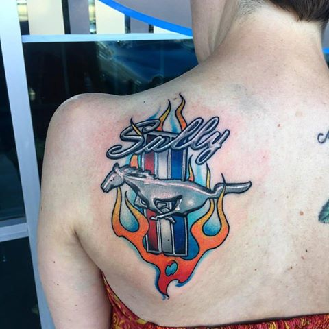 Ford Mustang Sally by Krystof Tattoo