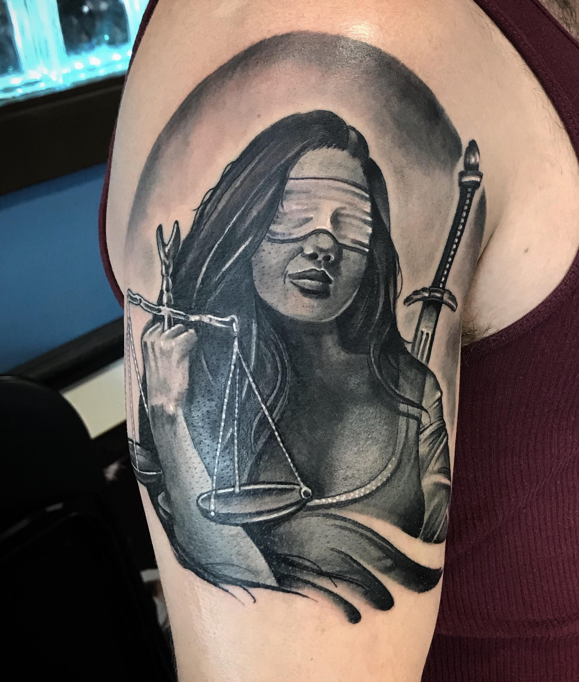 Blind Justice Tattoo by Krystof