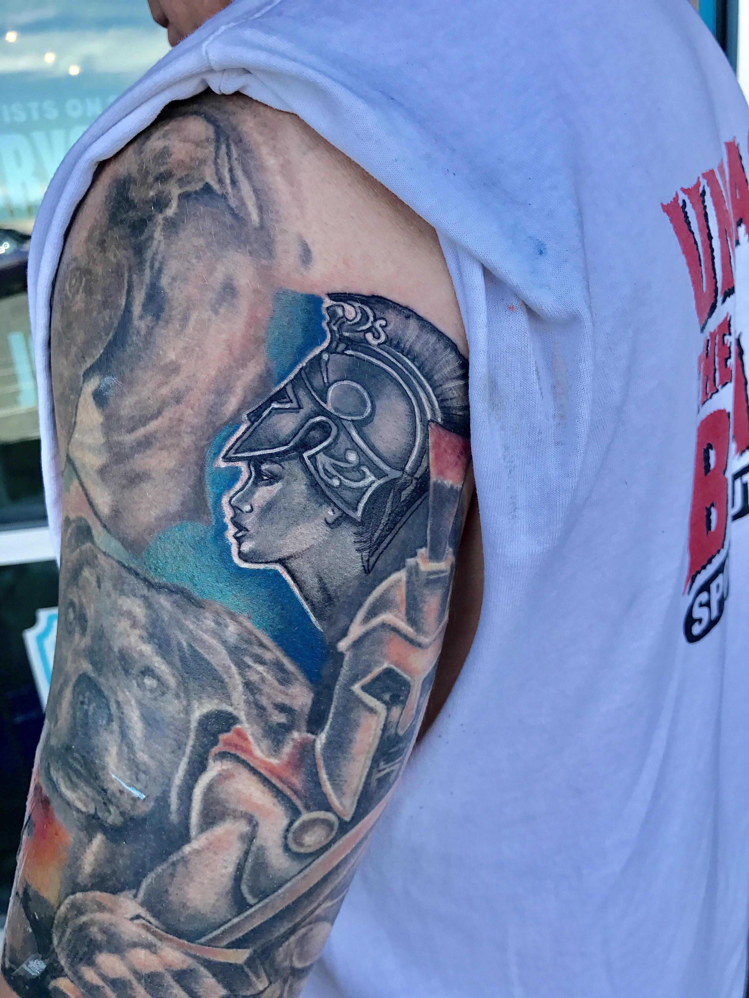 Athena Tattoo by Krystof