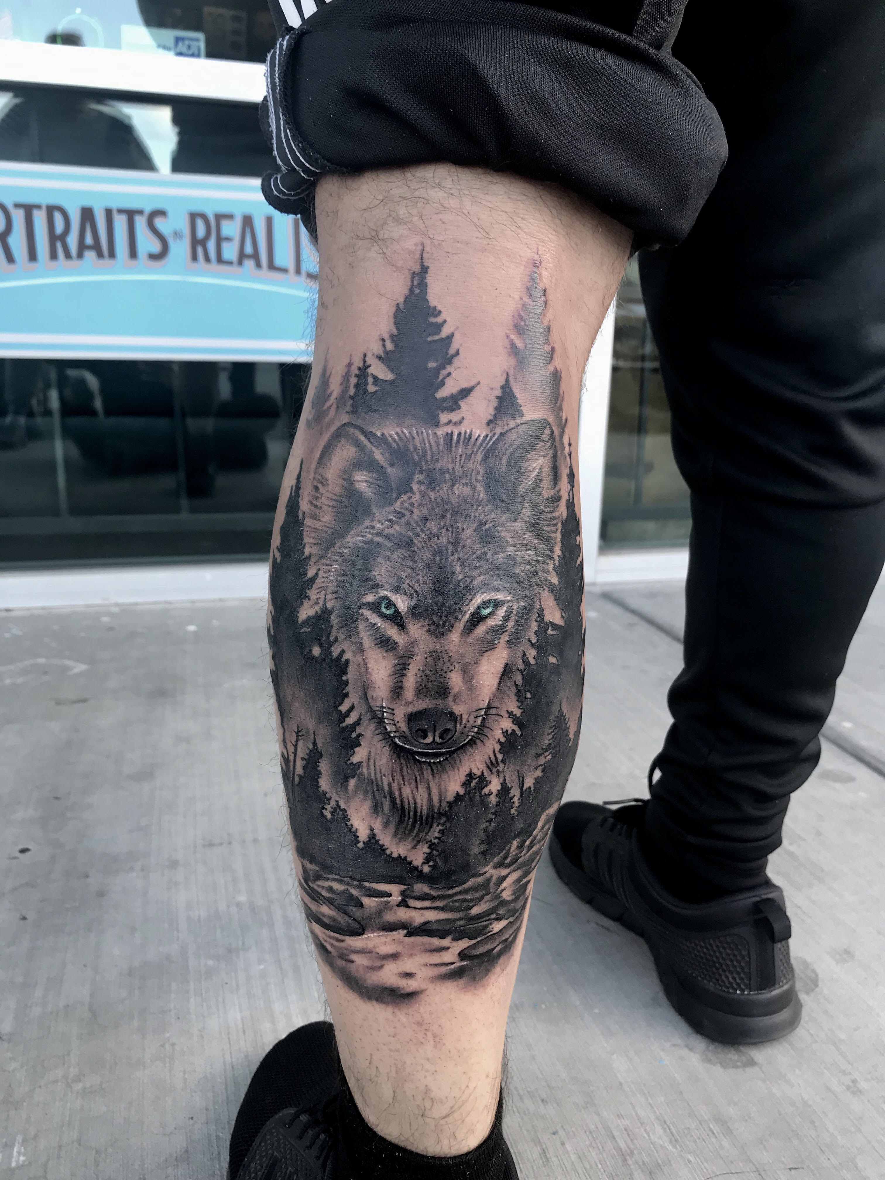 Forest Wolf Tattoo by Krystof