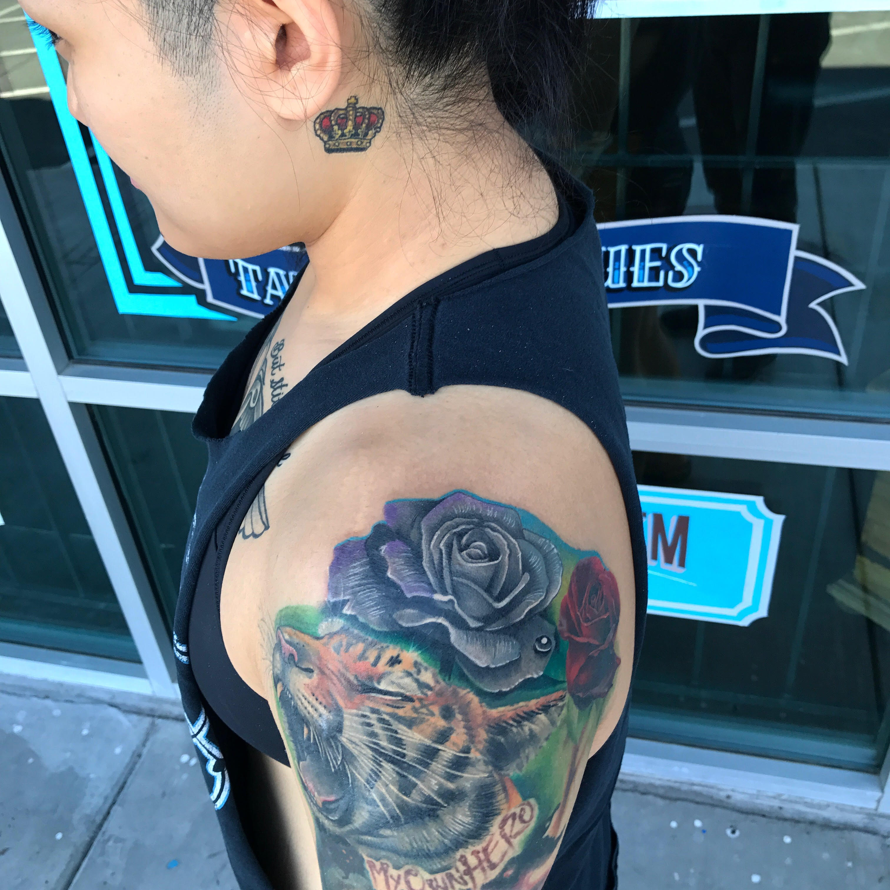 Color Rose Tattoo by Krystof