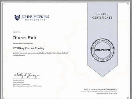 COVID-19 Contact Tracing Certification