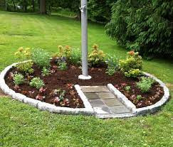 Front Yard Flag Pole Landscaping
