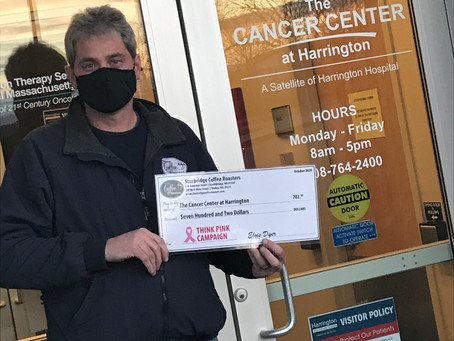"""SCR """"Think Pink"""" Campaign Donations Given to The Cancer Center at Harrington"""