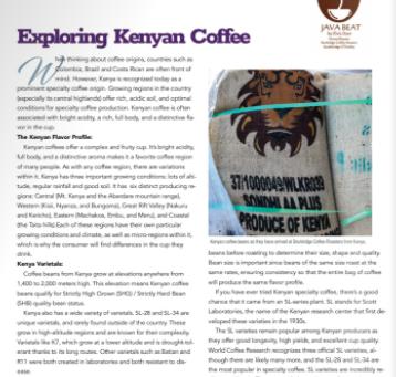 Java Beat: Exploring Kenyan Coffee