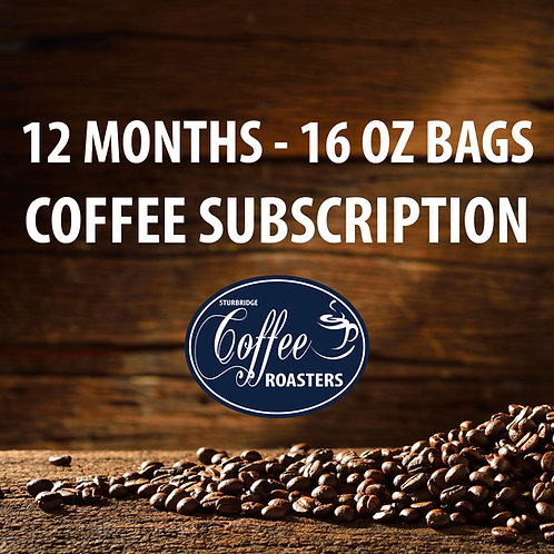Subscription: 12 Months of 16 oz bags