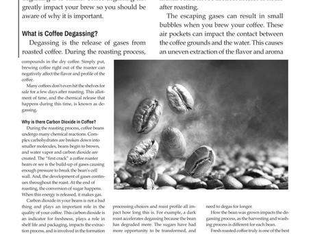 Java Beat: Coffee Degassing