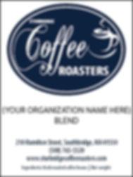 Sturbridge Coffee Roasters Fundraiser Label