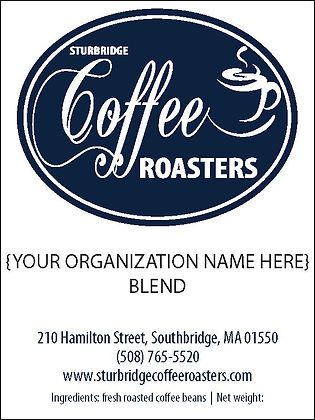 Sturbridge Coffee Roasters Fundraiser Label