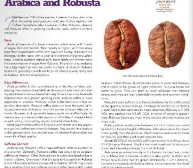 Java Beat: The Difference Between Arabica and Robusta