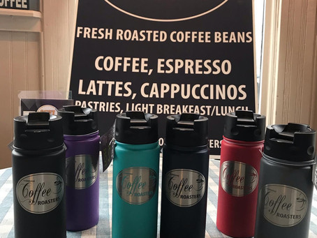 New Reusable Coffee Mugs have arrived