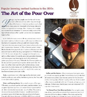 Java Beat: The Art of the Pour Over