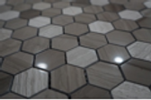 Dark Honey Comb Stone Mosaic