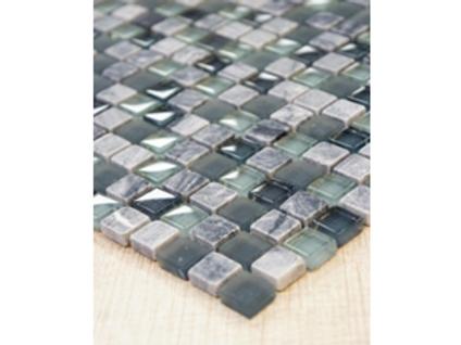 Ash Blend Mosaic Glass & Stone