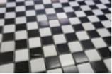 Calacatta Mini Checkers Stone Mosaic