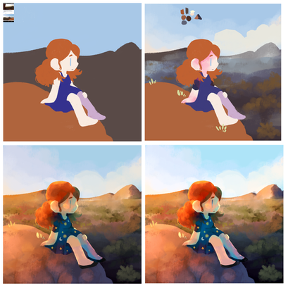Digital Painting Process