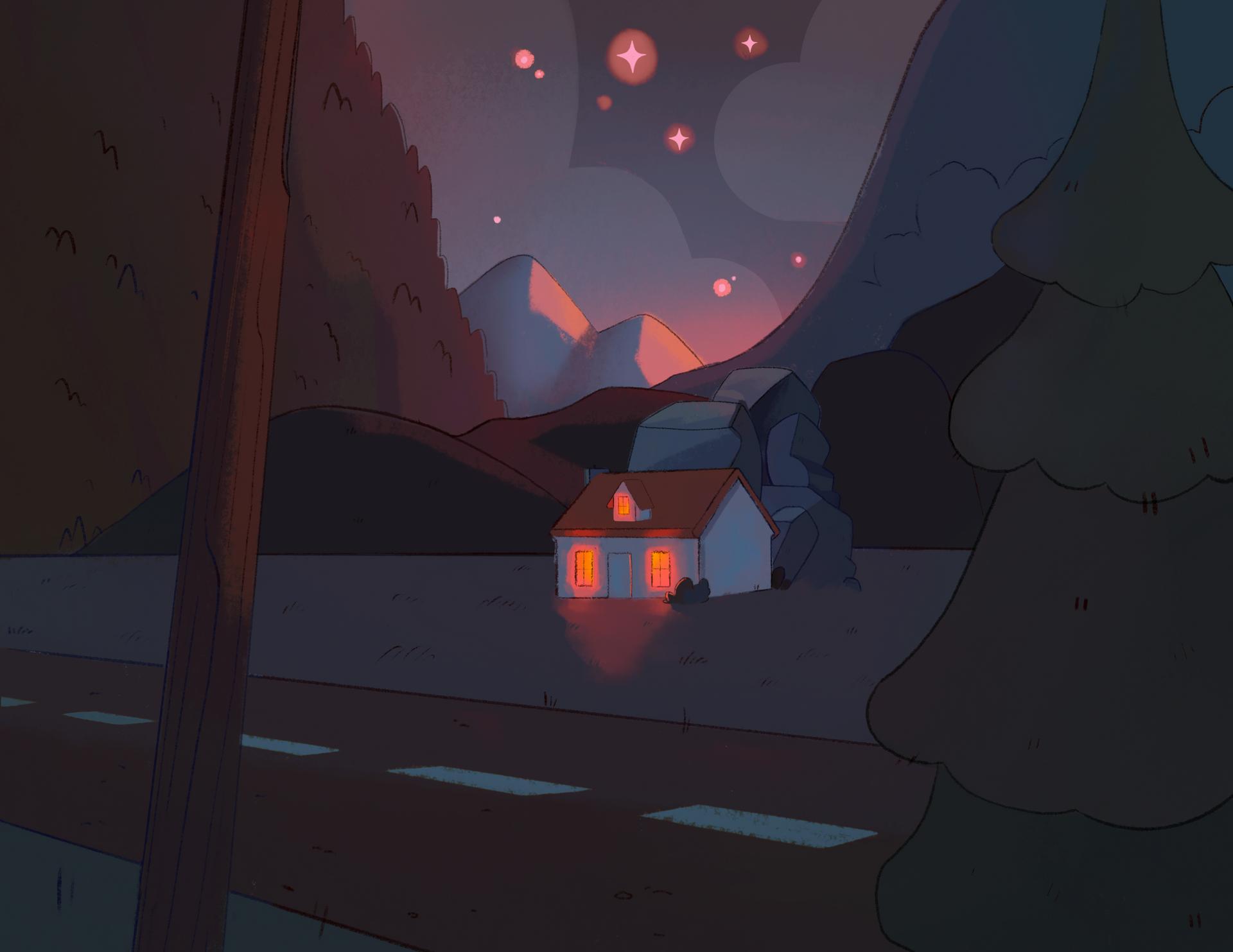 Warm Mountain Night