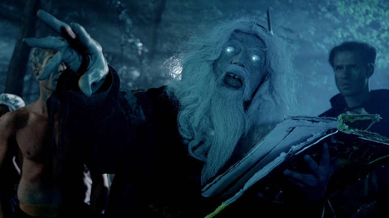 Rainer König as the wizard