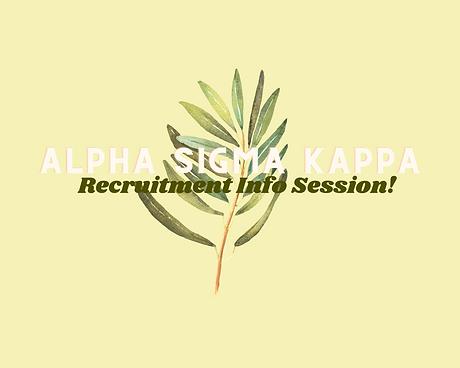 Recruitment Info Session