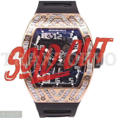 リシャールミル RICHARDMILLE スケルトン オートマチック RM010 バケットダイヤモンド メンズ 美品