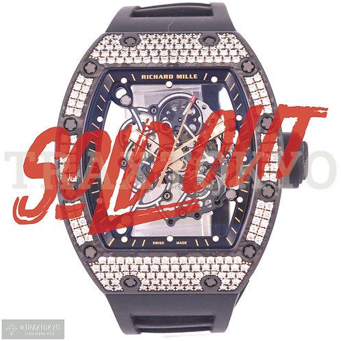 リシャールミル RICHARDMILLE RM055 RG CA 純正ダイヤモンド スケルトン文字盤 手巻き メンズ