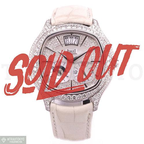 ピアジェ PIAGET エンペラドール クッション デュアルタイム GOA32018 世界限定100本 純正ダイヤモンド メンズ