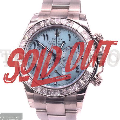 ロレックス ROLEX デイトナ 116576TBR アラビアダイアル アイスブルー 純正ダイヤモンド ランダム番 メンズ