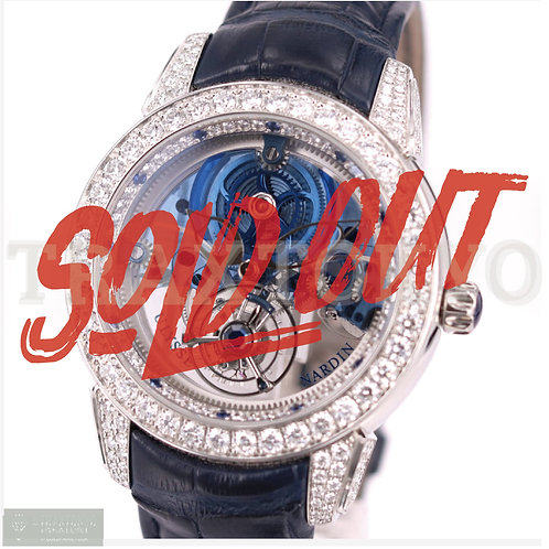 ユリスナルダン ULYSSE NARDIN 799-93 ロイヤルブルー トゥールビヨン ダイヤモンド サファイア プラチナケース 希少品 メンズ