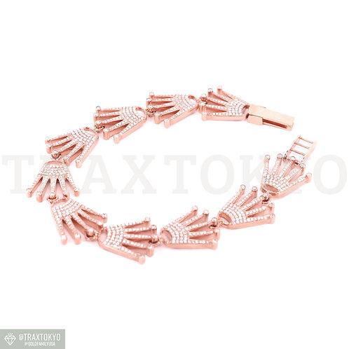 ロレックス ROLEX ブレスレット 14K ローズゴールド 18mm フルダイヤ アクセサリー メンズ traxtokyo